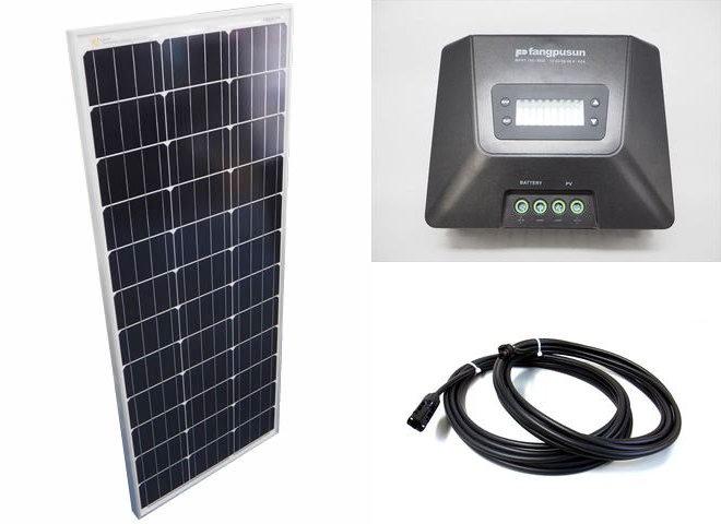 ソーラーパネル100W×10枚(1,000Wシステム:48V仕様)+Fangpusun MPPT150/60D(60A)の写真です。
