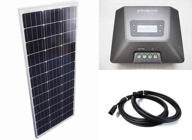 ソーラーパネル100W×10枚(1,000Wシステム:48V仕様)+Fangpusun MPPT150/70D(70A)の写真です。