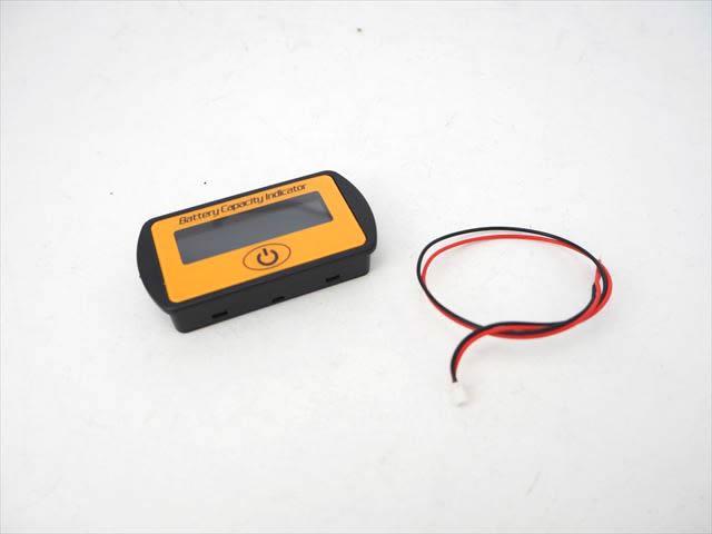 DC12V/24V用 バッテリー電圧/残量メーター LY7 ※オレンジの写真です。