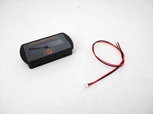 DC12V/24V用 バッテリー電圧/残量メーター LY7 ※グレーの写真です。