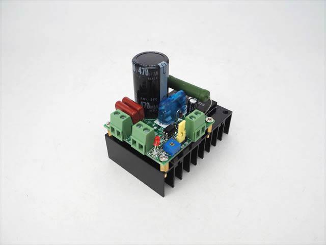 AC9V〜110V/DC12V〜160V PWM DCモータースピードコントローラー MACH3(10A)の写真です。