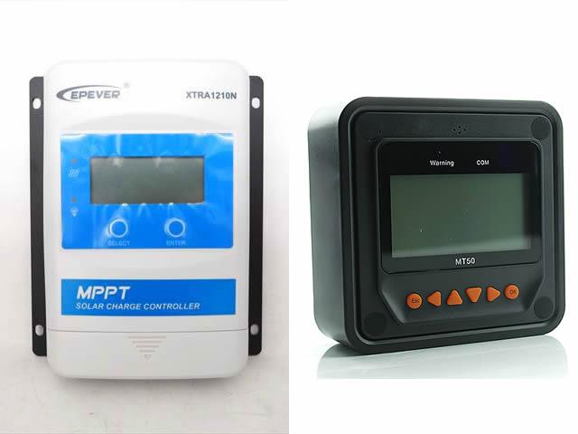 MPPTチャージコントローラー XTRA1210N-XDS1(10A)+リモートメーター MT50の写真です。
