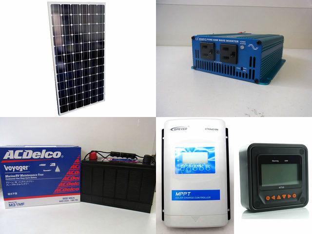 200W 太陽光発電システム(12V仕様) SK200 XTRA4210N-XDS2(40A)+ MT50の写真です。