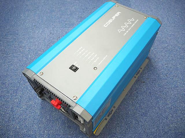 転送スイッチ付き充電器内蔵正弦波インバーター CPT600-124 Ver.3(24V)※低電圧遮断設定、充電電流調整機能付きの写真です。