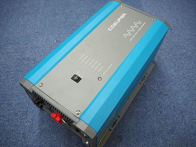 転送スイッチ付き充電器内蔵正弦波インバーター CPT1000-112 Ver.3(12V)※低電圧遮断設定、充電電流調整機能付きの写真です。