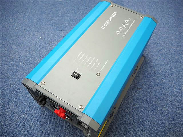 転送スイッチ付き充電器内蔵正弦波インバーター CPT1500-148 Ver.3(48V)※低電圧遮断設定、充電電流調整機能付きの写真です。