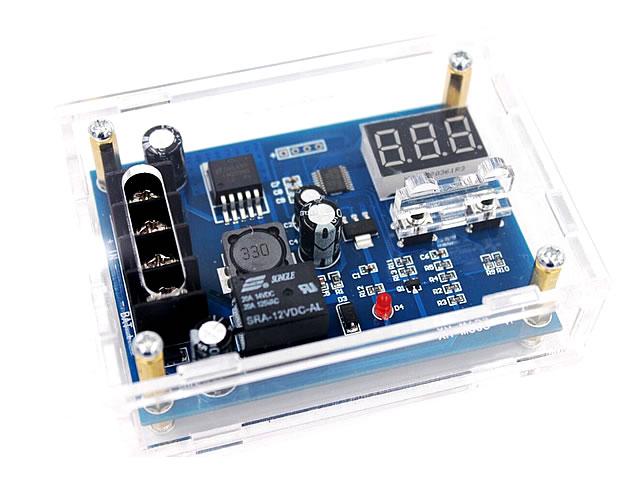 DC12/24V用  バッテリー電圧検知 充電コントローラー HX-M603 ※組み立て式クリアケース付の写真です。