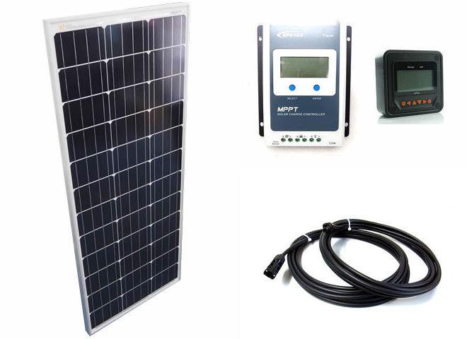 ソーラーパネル100W+Tracer1210AN+MT50の写真です。