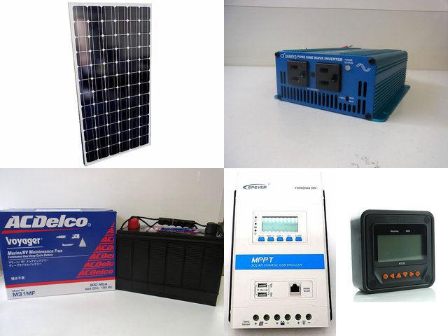 200W 太陽光発電システム(24V仕様) SK200 TRIRON4210N-DS2-UCS(40A)+ MT50の写真です。