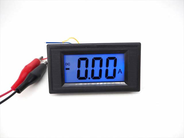 デジタル電流計パネルメーター(DC 0〜+/-20A)※シャント抵抗付きの写真です。