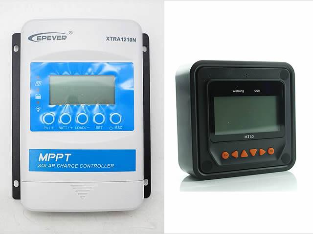 MPPTチャージコントローラー XTRA1210N-XDS2(10A)+リモートコントローラーMT50の写真です。