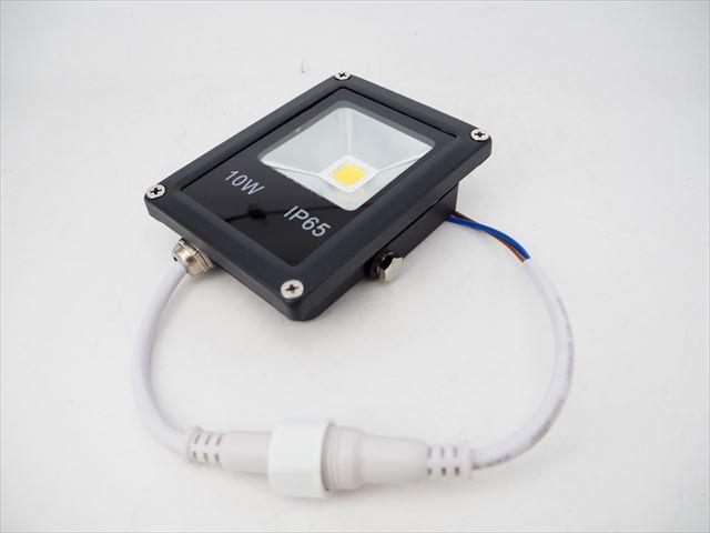DC12V用 10W 防水LEDスポットライト 防水コネクタケーブル付 ※Warm Whiteの写真です。