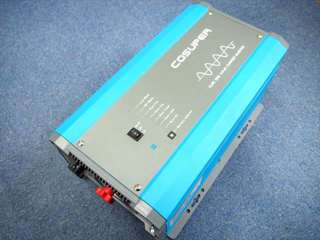転送スイッチ付き充電器内蔵正弦波インバーター CPT1000-124 Ver.3(24V)※低電圧遮断設定、充電電流調整機能付きの写真です。