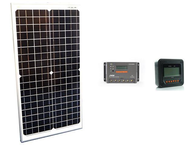 ソーラーパネル30W(35.6V)×2枚(60Wシステム:48V仕様)+VS3048BN+ MT50の写真です。