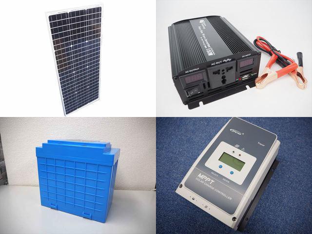 100W(35.5V)×2枚(200W) 太陽光発電システム(48V仕様) YB3150 Tracer5420AN(50A)の写真です。
