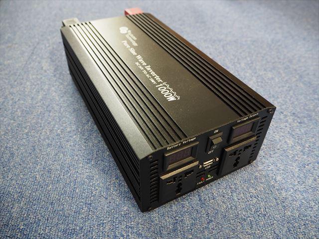 正弦波インバーター YB31000-12V(1,000W)※周波数切り替えスイッチ付の写真です。