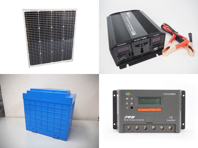 75W(66.5V) 太陽光発電システム(48V仕様) YB3150 VS3048BNの写真です。