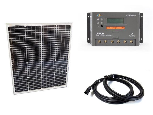 ソーラーパネル75W(66.5V)+VS3048BNの写真です。