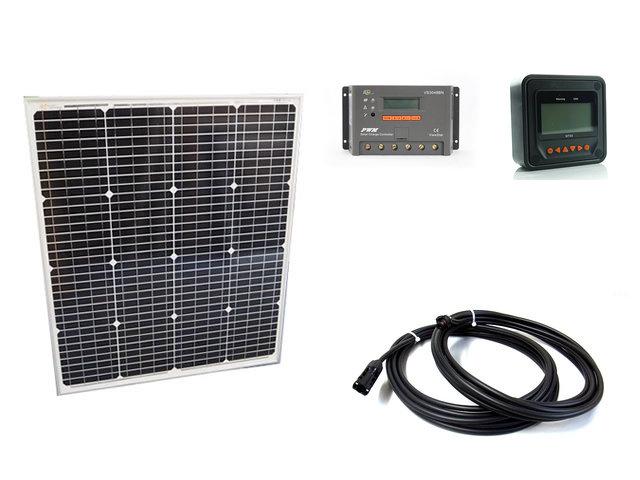 ソーラーパネル75W(66.5V)+VS3048BN+ MT50の写真です。