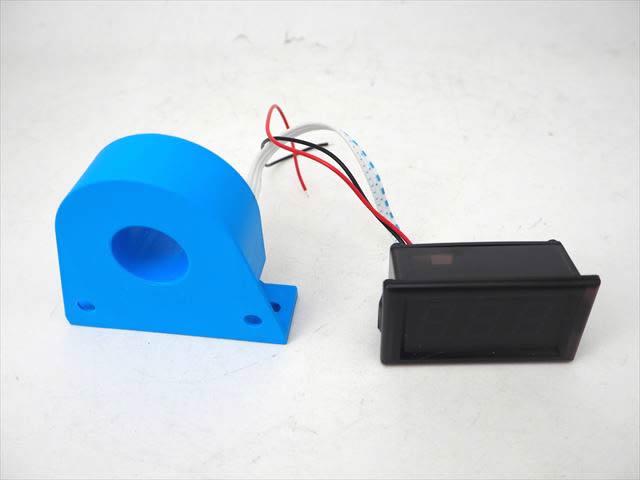デジタル電流計パネルメーター YB28C(DC0A〜200A)※赤の写真です。