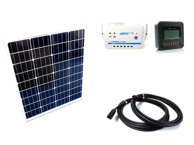 ソーラーパネル80W+LS1024B(10A)+MT50の写真です。