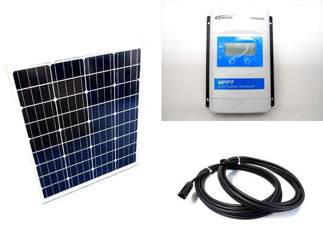 ソーラーパネル80W×2枚 (160W)+XTRA2210N-XDS1(20A)の写真です。