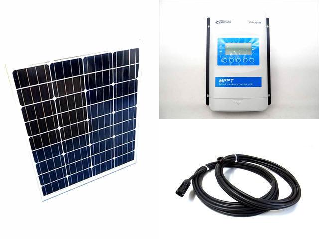 ソーラーパネル80W×2枚 (160W)+XTRA3210N-XDS2(30A)の写真です。