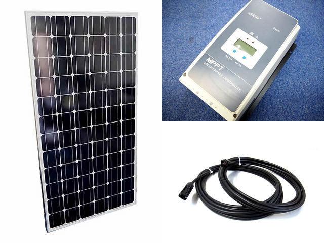 ソーラーパネル200W×8枚 (1,600Wシステム:48V仕様)+Tracer6420AN(60A)