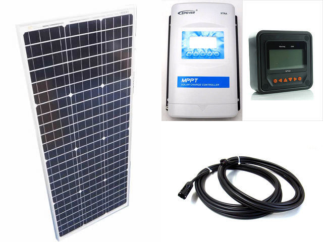 ソーラーパネル100W(35.5V)×2枚 (200Wシステム)+XTRA3415N-XDS2(30A)+ MT50