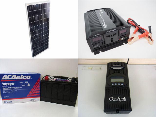 100W×10枚(1,000W)太陽光発電システム(48V仕様) YB3600 FM-60の写真です。