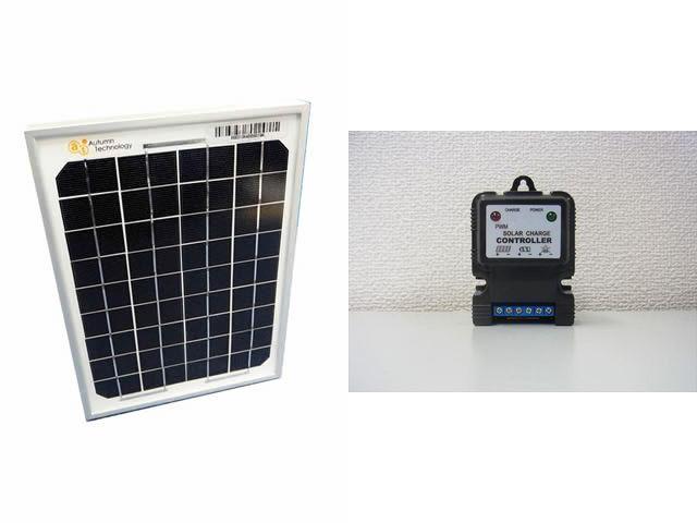 ソーラーパネル5W+SJ3A(3A)※12V専用の写真です。