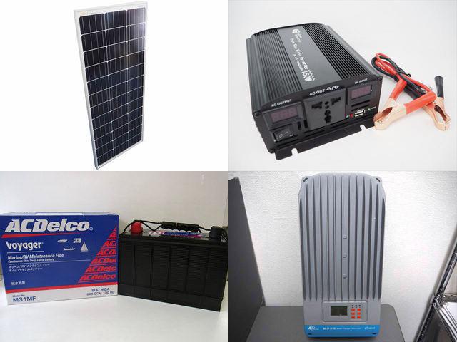 100W×10枚(1,000W)太陽光発電システム(48V仕様) YB3600 ET6415BNDの写真です。