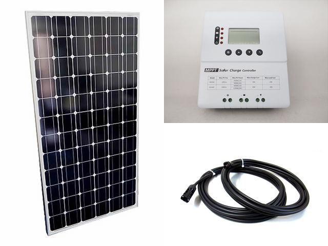 ソーラーパネル200W×2枚 (400Wシステム:12V仕様)+PY-M2440(40A)の写真