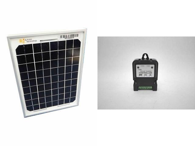 ソーラーパネル5W+DHS-3S(3A) ※6V/12V専用の写真です。
