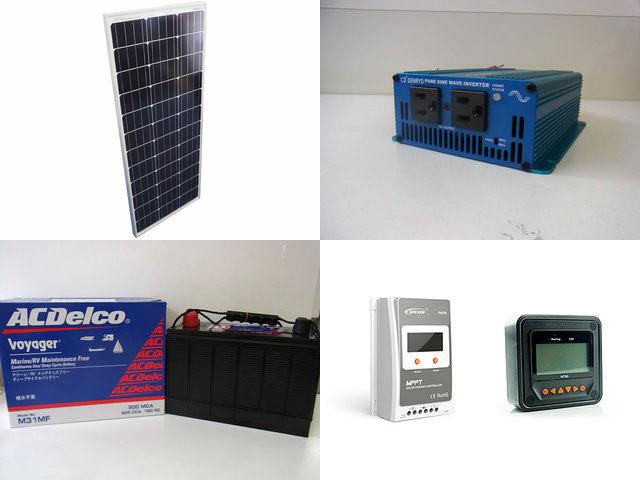 100W 太陽光発電システム SK200 Tracer2210A+MT50の写真です。