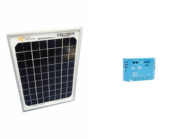 ソーラーパネル5W+LS0512E(5A)の写真です。