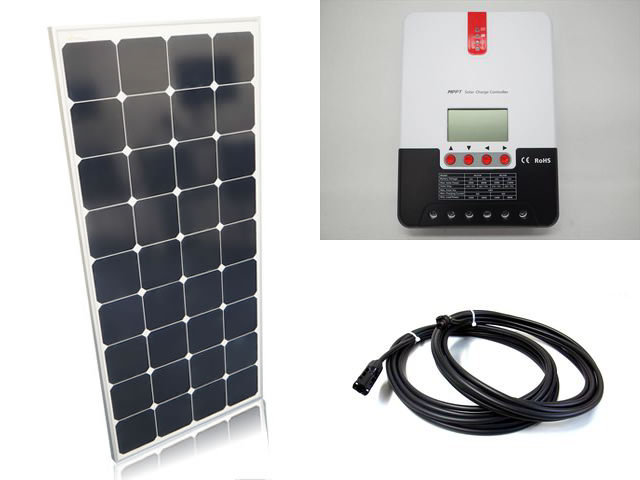 ソーラーパネル120W×6枚(720Wシステム:24V仕様)+SR-ML2430の写真です。