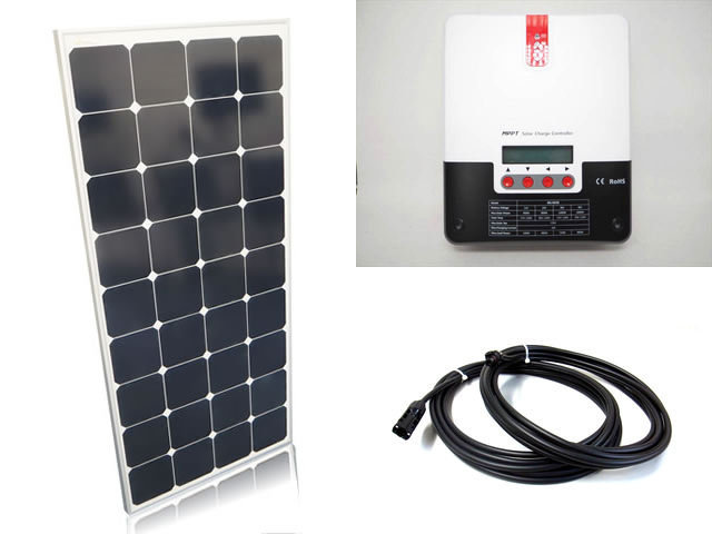 ソーラーパネル120W×6枚(720Wシステム:24V仕様)+SR-ML4830の写真です。