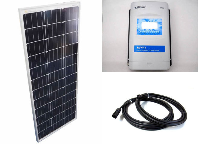 ソーラーパネル100W×10枚 (1,000W)+XTRA3415N-XDS2(30A)の写真です。