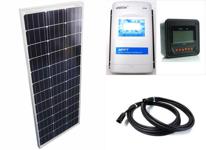 ソーラーパネル100W×10枚 (1,000Wシステム)+XTRA4415N-XDS2(40A)+ MT50の写真です。