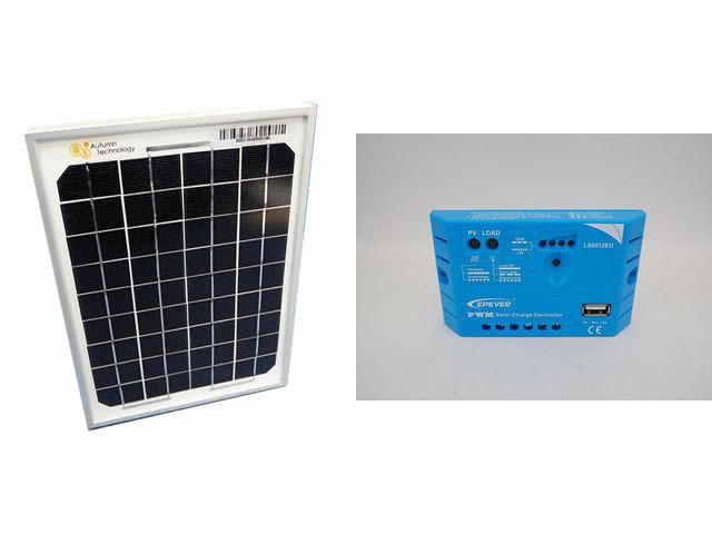 ソーラーパネル5W+LS0512EU(5A)の写真です。