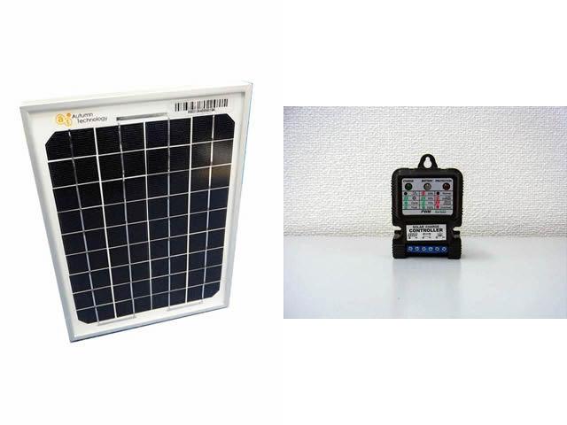 ソーラーパネル5W+SJ5A(5A) ※6V/12V 常時出力タイプの写真です。