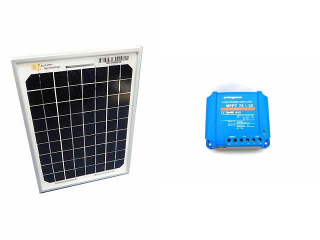 ソーラーパネル5W+Fangpusun MPPT75/05(5A)の写真です。