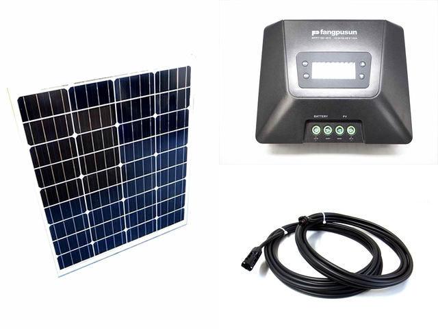 ソーラーパネル80W×2枚(160W)+Fangpusun MPPT150/45D(45A)の写真です。