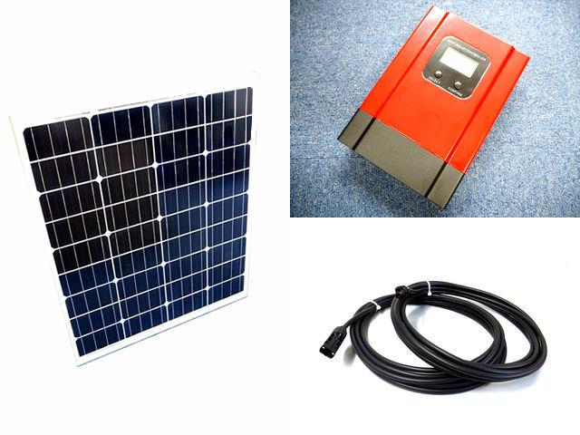 ソーラーパネル80W+eSmart3-30Aの写真です。