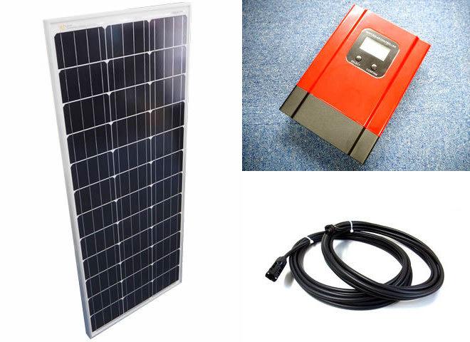 ソーラーパネル100W+eSmart3-30Aの写真です。