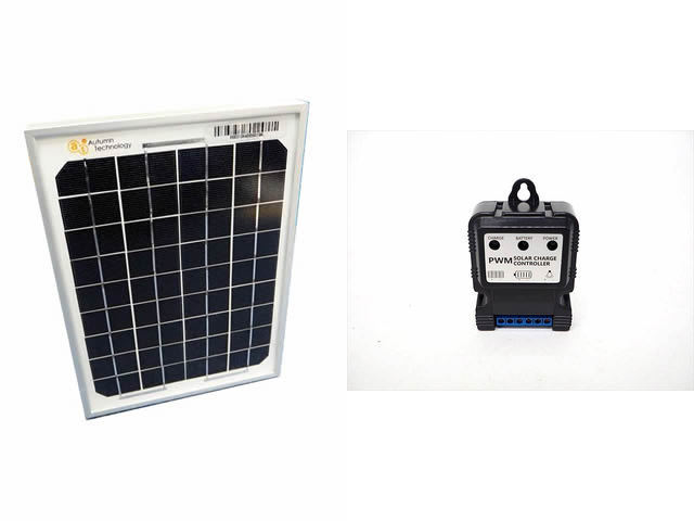 ソーラーパネル5W+DHS-5S(5A)※6V/12V専用の写真です。