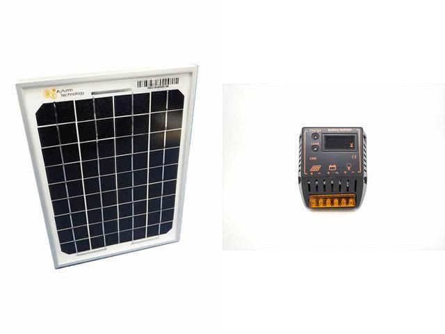 ソーラーパネル5W+CMD-2405(5A)の写真です。