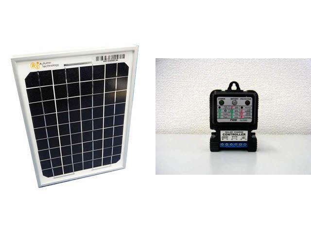 ソーラーパネル5W+SS3A(3A)※12V/24Vの写真です。