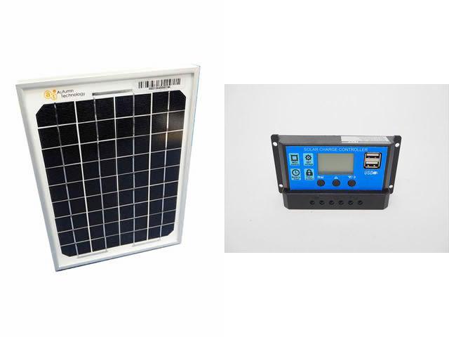 ソーラーパネル5W+KW1210(10A)の写真です。